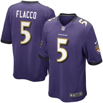 Mens Baltimore Ravens Joe Flacco Nike Purple Game Jersey