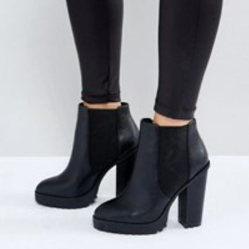 G-Star Denim Mix Heeled Chelsea Boot at asos.com