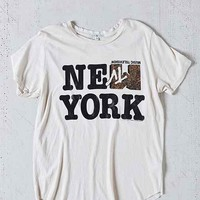 Junk Food MTV New York Curved-Hem Tee- Tan