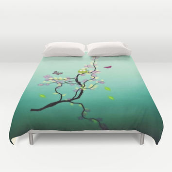 Chaotic Tree ( series ) Duvet Cover by Laura Santeler