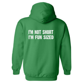 Im not short im fun sized Heavy Blend™ Hooded Sweatshirt BACK ONLY