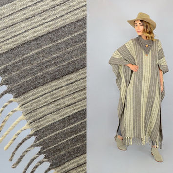 70's Mexican Blanket Poncho