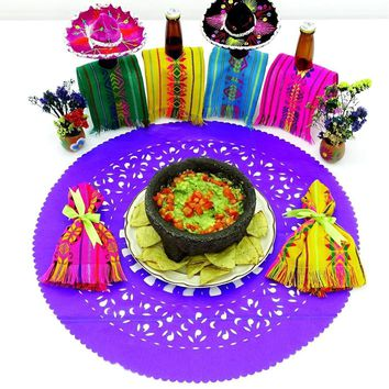 Mexican Purple paper place mats, Fiesta decoration, D222