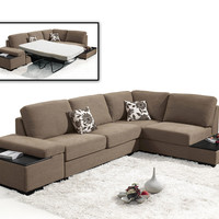 Divani Casa Risto - Modern Fabric Sectional Sofa bed