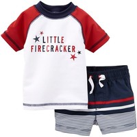 Carter's Baby Boys' 2 Piece 4th of July Swim Set (Baby)