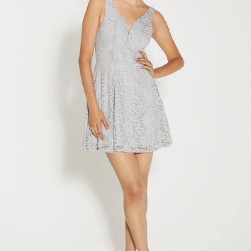 lace dress with sparkling glitter