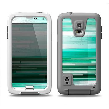 The Green Abstract Vector HD Lines Samsung Galaxy S5 LifeProof Fre Case Skin Set