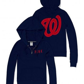 Washington Nationals Bling Perfect Full Zip Hoodie
