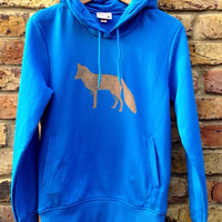 SALE Fox hoodie - low CO2, organic cotton, fairly traded, hand printed
