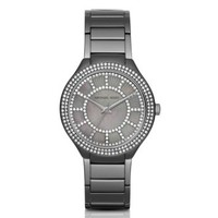 Kerry Pavé Gunmetal-Tone and Mother-of-Pearl Watch | Michael Kors