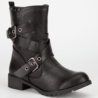 Soda Mayport Womens Boots Black  In Sizes