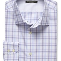 Banana Republic Mens Slim Fit Non Iron Open Check Shirt