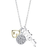 Silver Plated Mom Necklace - Gold/Silver