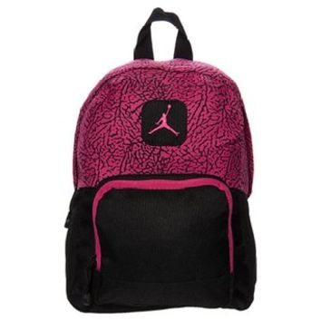 Nike Air Jordan Black and Pink Fireberry Mini Backpack Bag for Girls in Small 7A1347-141