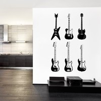 ik735 Wall Decal electric bass guitar star music song artist notes chords rock