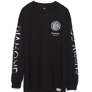 Diamond Supply Co Clarity Long Sleeve T-Shirt - Mens Tee - Black