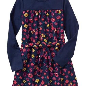 Gap Girls Factory Colorblock Floral Dress