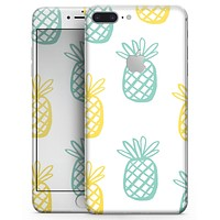 Gold and Mint Pineapple - Skin-kit for the iPhone 8 or 8 Plus