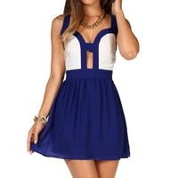 Navy/white Colorblock Cutout