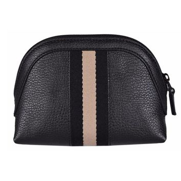Gucci Women's Web Leather Cosmetic Case 339558, Black