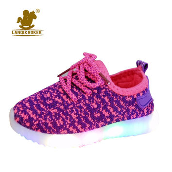 Luminous Children Shoes With Light Autumn Baby Boys Girls Shoes Kids Sneakers Lights Sports Led Shoes Toddler Running Sneakers