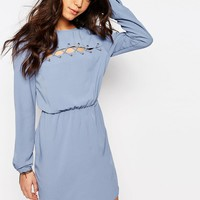 First & I Lace Up Detail Dress at asos.com