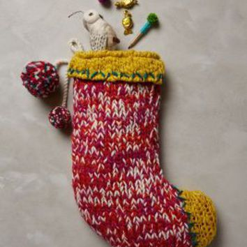 Knitted Tassel Stocking by Anthropologie
