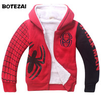Baby Boys Spiderman Fleece Hoodies