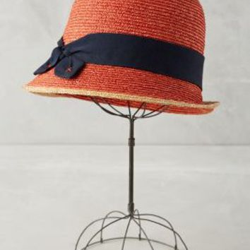 Sanibel Cloche by Anthropologie in Red Size: One Size Hats
