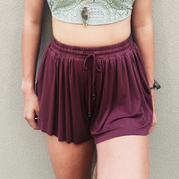 A Wanderer Short in Burgundy