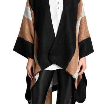 Panache Black/Tan Stripe Shawl