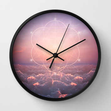 The Sun Is But A Morning Star (Geometric Sunrise) Wall Clock by Soaring Anchor Designs