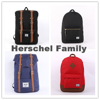 Herschel style outdoor camping/hiking/ travel/ backpack bag women' men' laptop backpacks