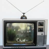 Fish Tank TV Retrograde Television Aquarium 3.5L