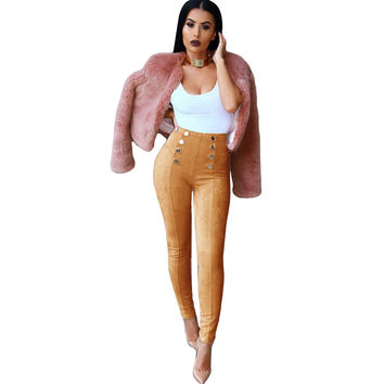 Boyfriend Pencil Jeans for women winter warm skinny female American Apparel womens suede plus size high waisted jeans