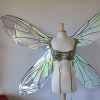 GIANT Iridescent Double Fairy Fly Wings Ready to Ship!