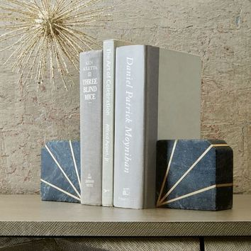 Stone Bookend - Gray Marble