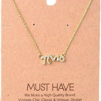 Must Have Necklace-Bling Mrs, Gold