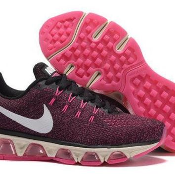 PEAPON3V Nike Air Max Tailwind Black & Pink Printed Running Shoes For Women