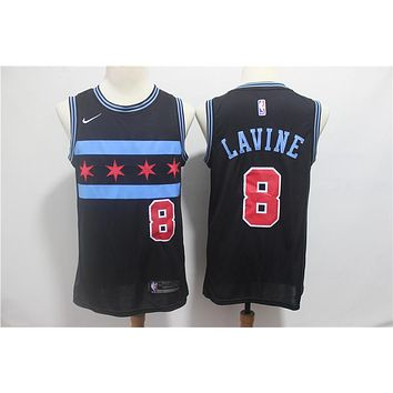 Chicago Bulls #8 Zach LaVine Swingman Jersey