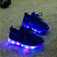 Hot Baby Girls trainer boy tenis LED Light Shoes Toddler Anti-Slip Sports Boots Kids Sneakers Children Cartoon Flats child shoe