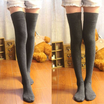 Thigh High Socks Overknee Stockings Girl's Hosiery