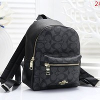 COACH Fashion New More Pattern Leather Women Backpack Bag