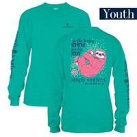 "*Closeout* Youth Simply Southern Long Sleeve - ""Sloth"""