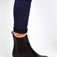 ASOS ADVERSE Leather Chelsea Ankle Boots