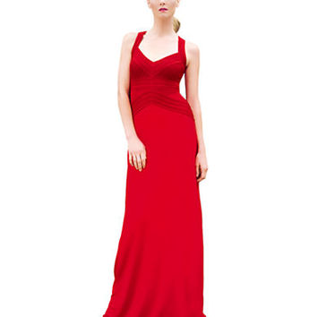 Calvin Klein Cross Strap Gown