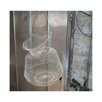 Vintage wire mesh fish basket from 13th street emporium for Live fish basket