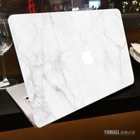 """Milk White Marble Grain Full Front Cover Skin Sticker for Apple Marble MacBook Pro Air Retina 11"""" 13"""" 15"""" Laptop Decal Sticker"""
