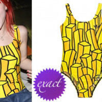 JEREMY SCOTT FRENCH FRIES SWIMSUIT