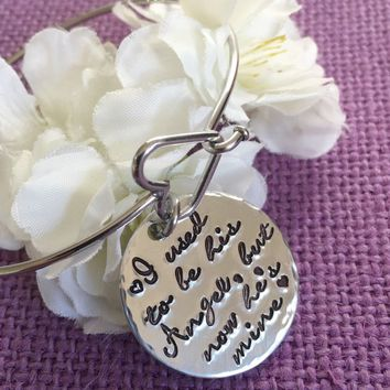 Memorial Jewelry Dad - I used to be his angel now he's mine - Memorial Bracelet - Daddys girl - Sympathy gift - Remembrance Bracelet - Rip